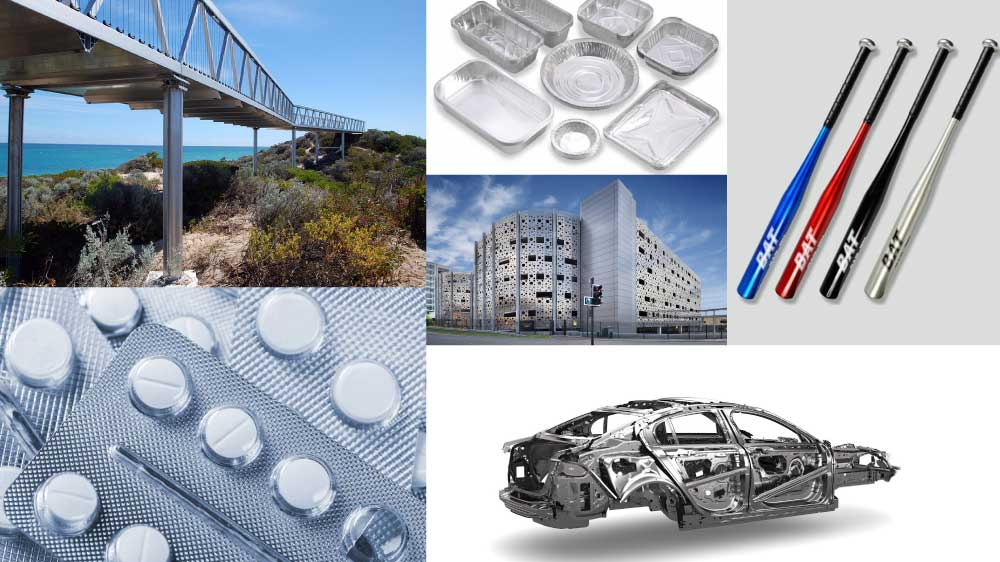 more uses for aluminum