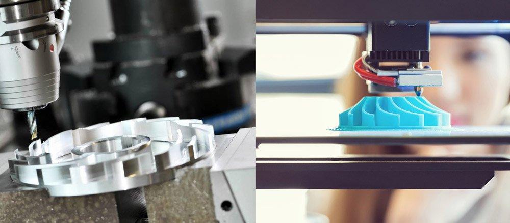 CNC vs 3D printing