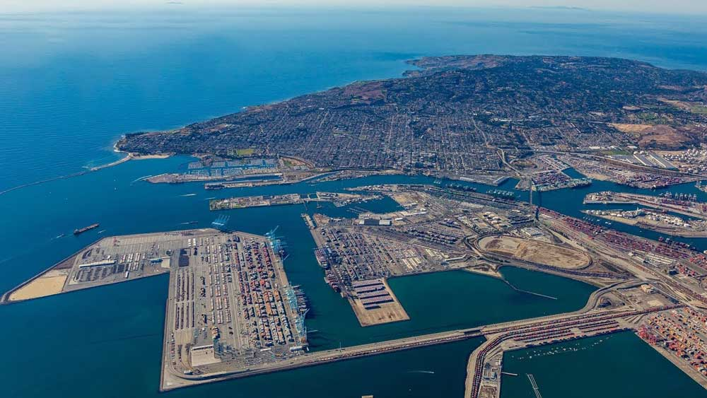 los angeles container port