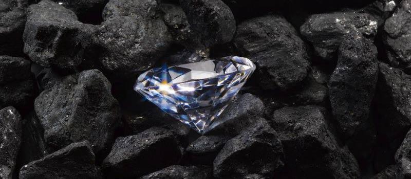 carbon diamonds and coal